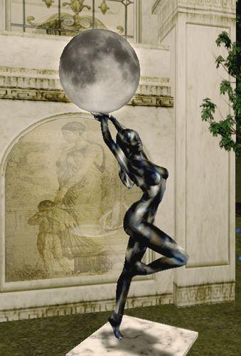Lune et arc en ciel