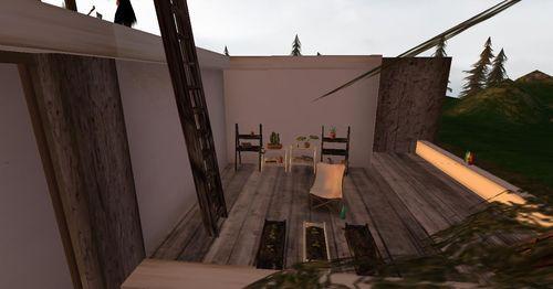 Une petite terrasse jardinage