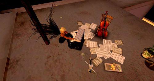 Sur le toit en avant la musique