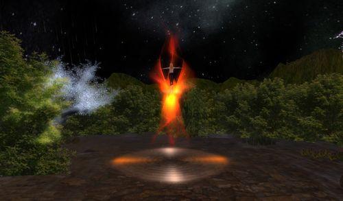 danser avec les flammes