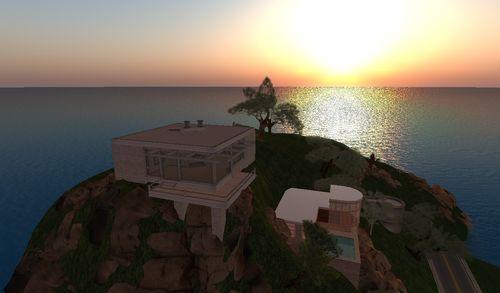 une villa sur la côte